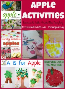 Apple Activities featured on the Toddler & Preschool Moms Pinning Party
