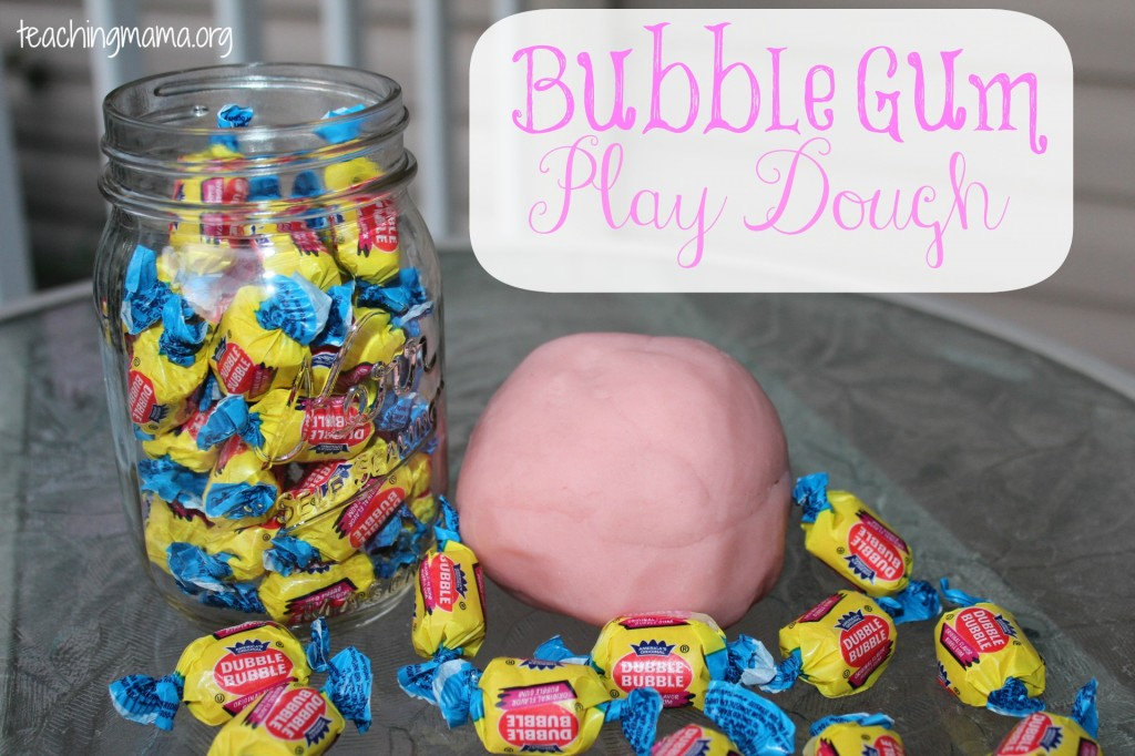Bubble Gum Play Dough Cover
