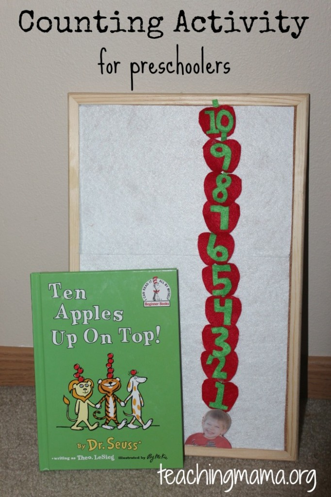 Ten Apples Up On Top! A Counting Activity for Preschoolers