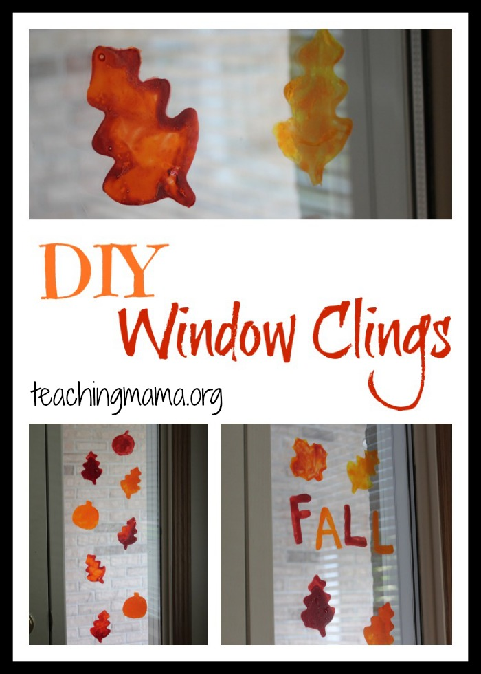 Diy window clings for Home window decorations