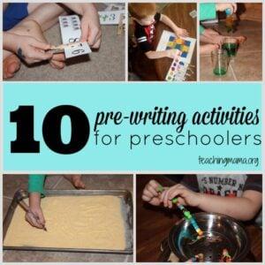 10 Pre-Writing Activities for Preschoolers