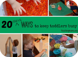 More Toddler Activities