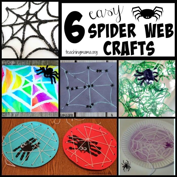 6 Easy Spider Web Crafts