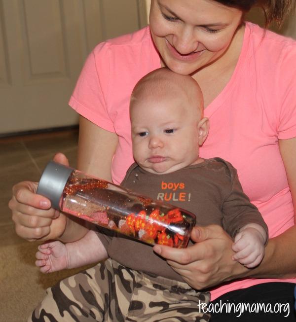 Baby Sensory Bottle with Mom