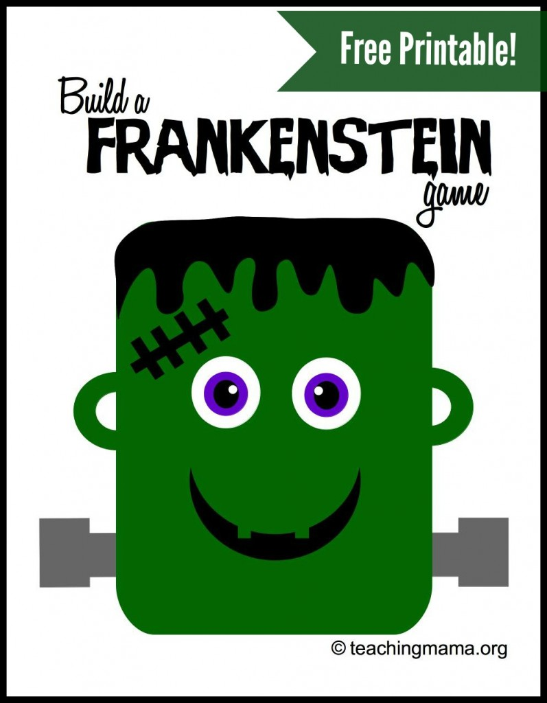 Build a Frankenstein Game  (FREE printable!)