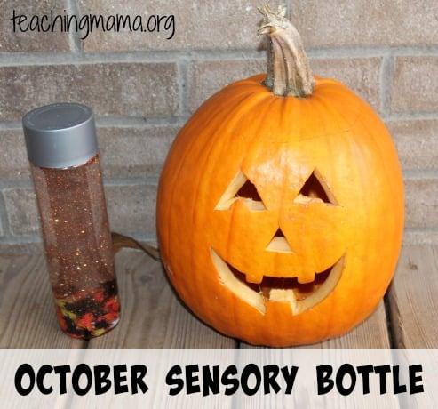 October Sensory Bottle