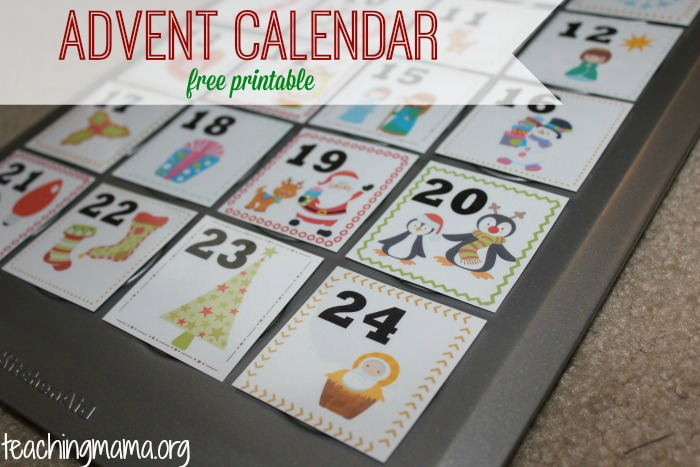 photograph regarding Advent Calendar Numbers Printable called Introduction Calendar for Children
