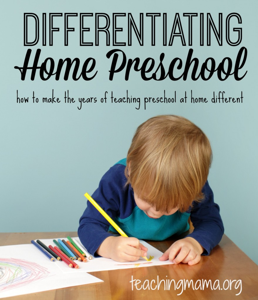Differentiating Home Preschool - how to make preschool at home different over the years