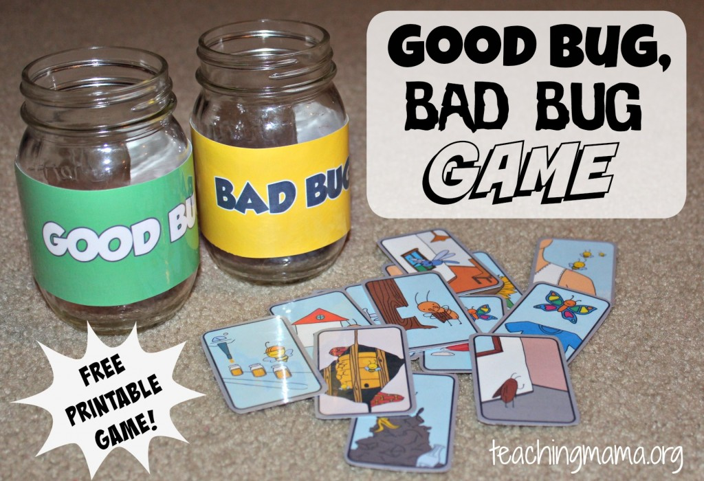 Good Bug, Bad Bug Game (FREE printable game!)
