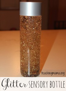November Glitter Sensory Bottle