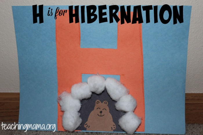 hibernation activities for preschoolers  teaching mama letter h