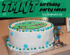 TMNT Birthday Party Ideas