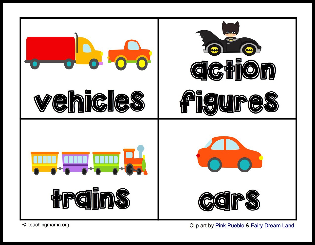 Toy Labels For Bins1 Teaching Mama