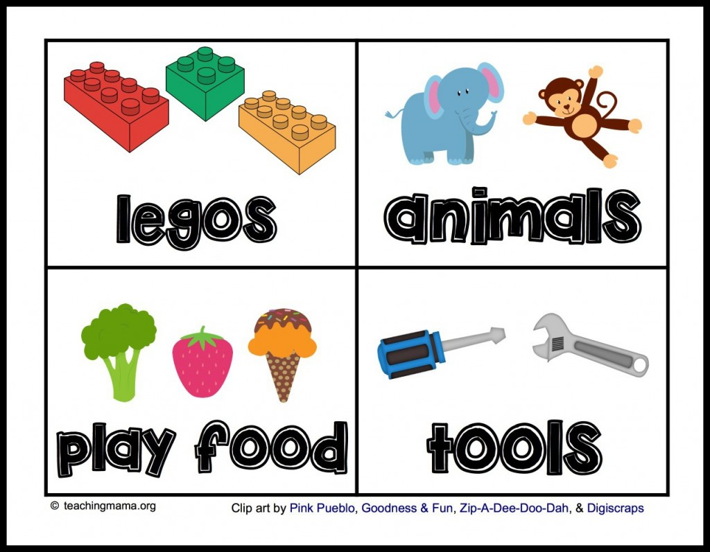Toy Labels for Bins