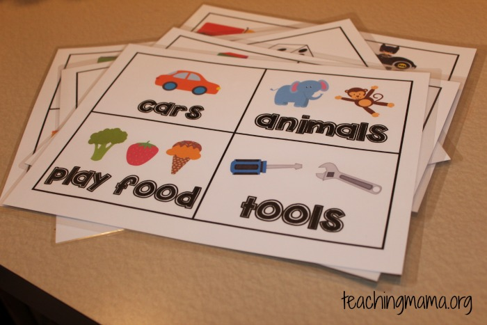 Toy Bin Label Cards