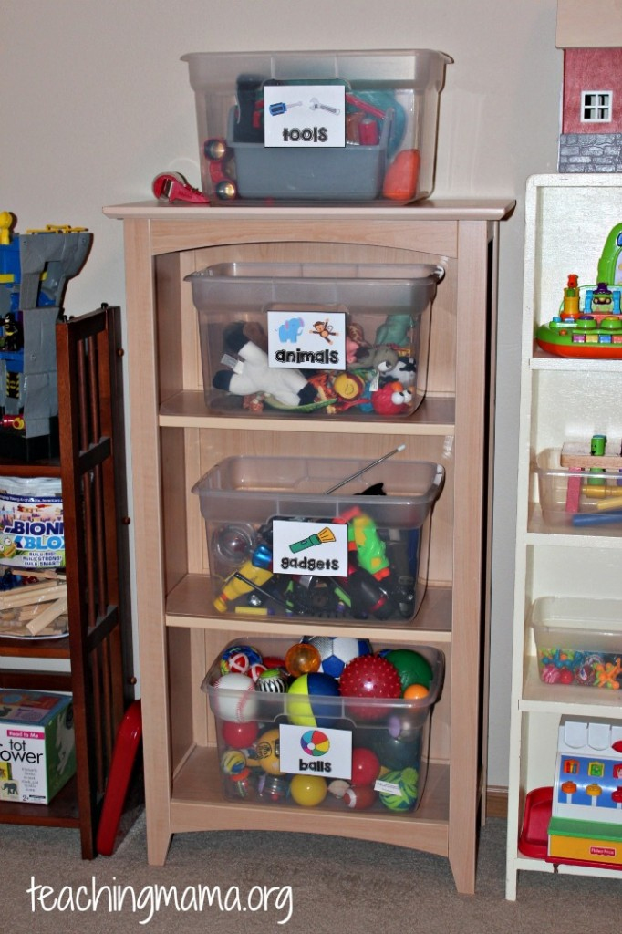 toy shelf 1 & Toy Room Organization u0026 Free Toy Bin Labels