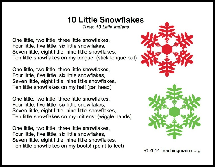 10 Little Snowflakes