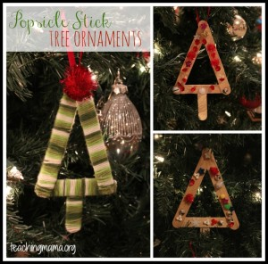 Popsicle Stick Tree Ornaments
