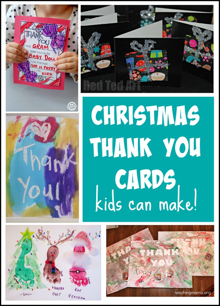 Christmas Thank You Cards Kids Can Make!