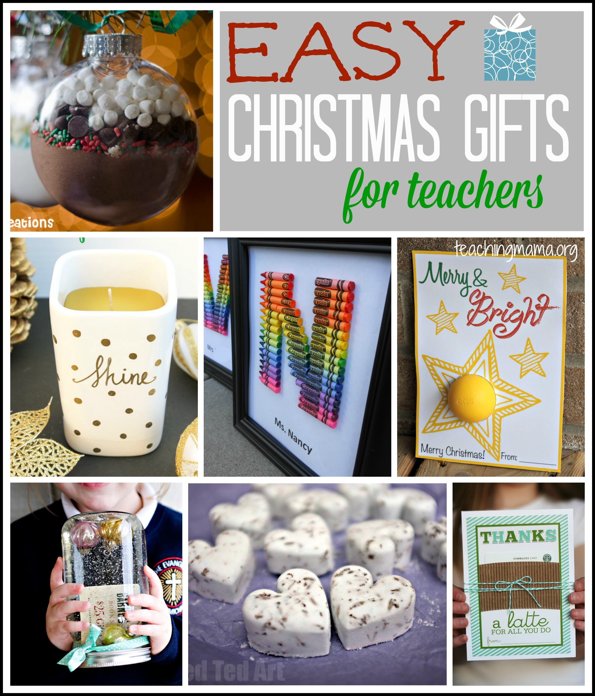 Easy Christmas Gifts for Teachers