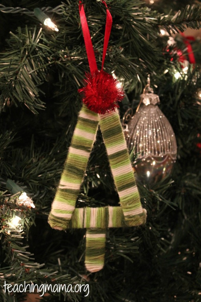 Yarn-Wrapped Tree Ornament