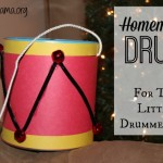 Homemade Drum for The Little Drummer Boy