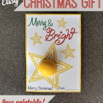 Merry & Bright Christmas Printable for Lip Balm
