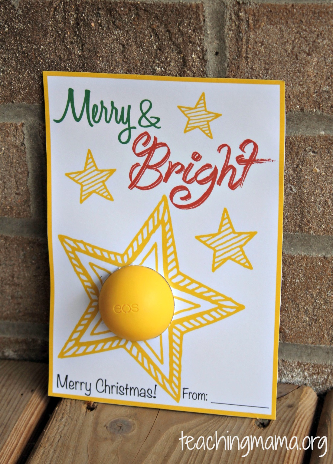 Merry & Bright Christmas Card Printable