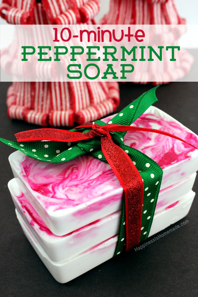 quick and easy diy peppermint soap holiday gift
