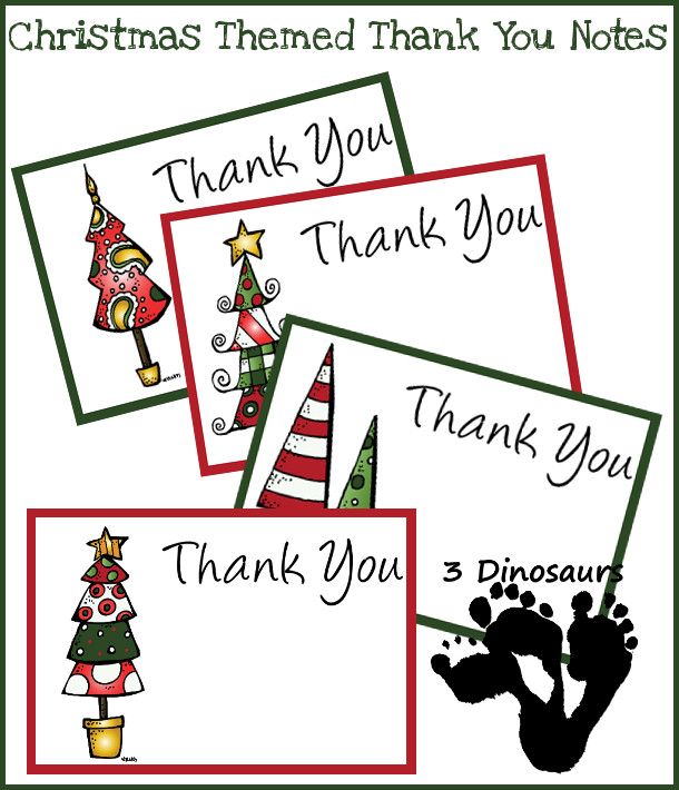 Christmas Thank You Cards Kids Can Make – Christmas Thank You Cards