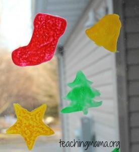 DIY Christmas Window Clings