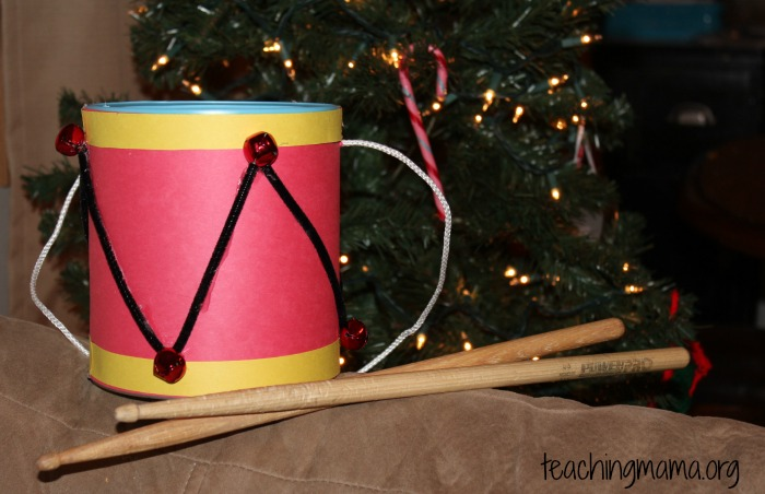 homemade drum and sticks