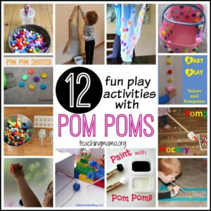 12 Fun Play Activities with Pom Poms