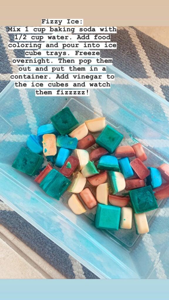 fizzy ice cubes