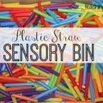 Plastic Straw Sensory Bin