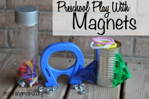 Preschool Play with Magnets