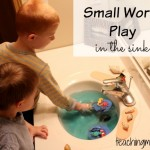 Small World Play in the Sink