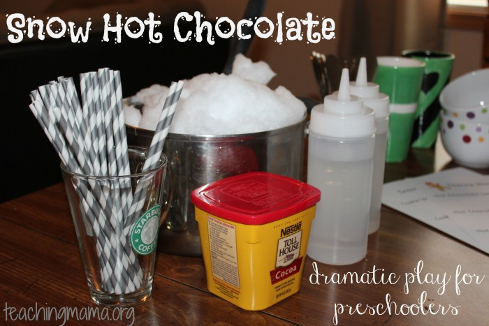 Snow Hot Chocolate -- Dramatic Play for Preschoolers