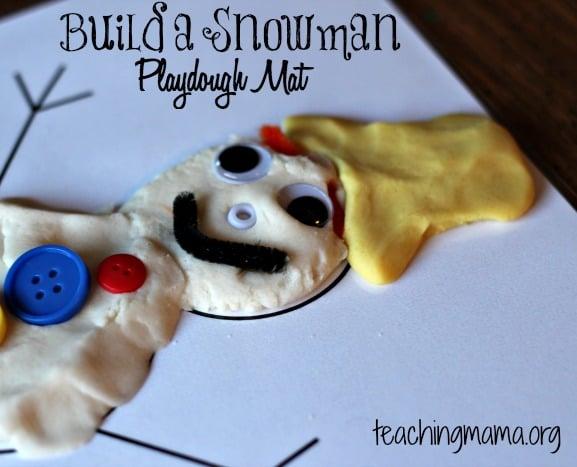 Snowman Playdough Mat