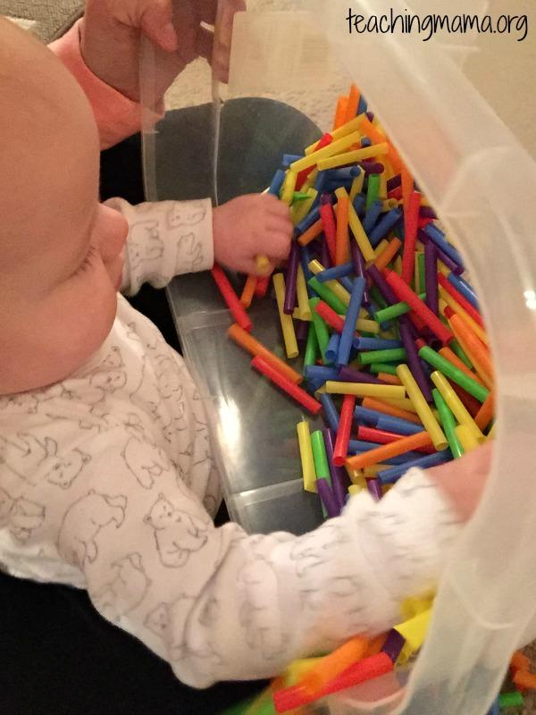 baby sensory bin