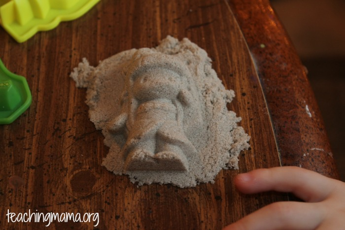 Kinetic Sand in Molds