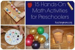 15 Math Activities Preschool
