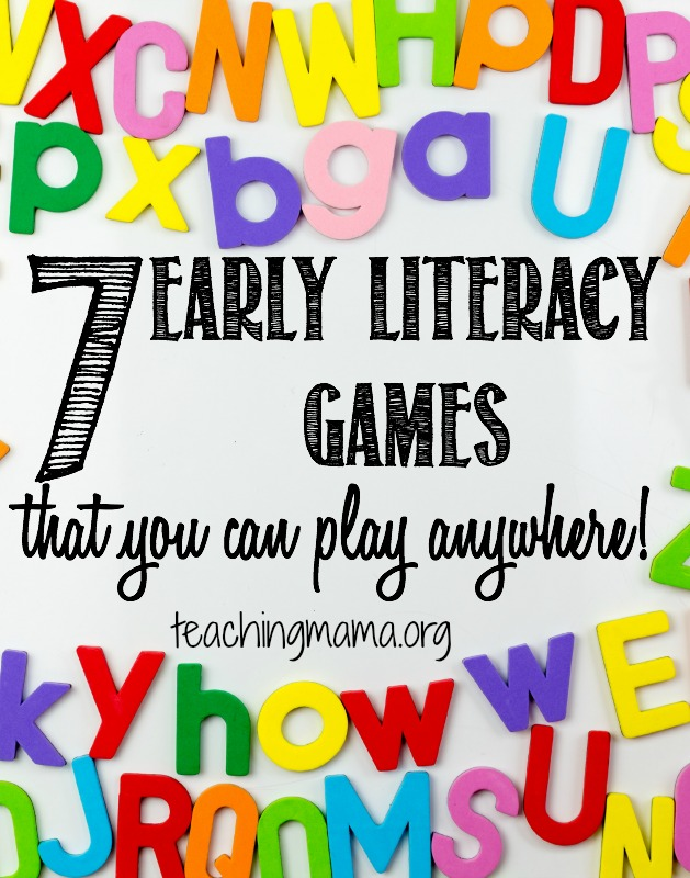 7 Early Literacy Games That You Can Play Anywhere!