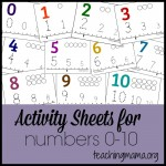 Activity Sheets for Numbers 0-10