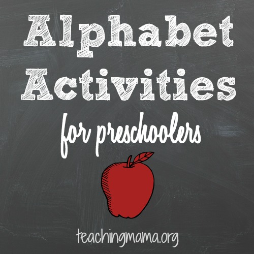 Alphabet Activities for Preschoolers
