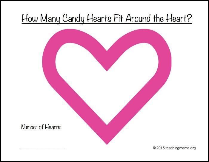 Candy Heart Math Printables