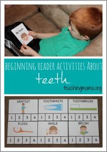 Beginning Reader Activities About Teeth