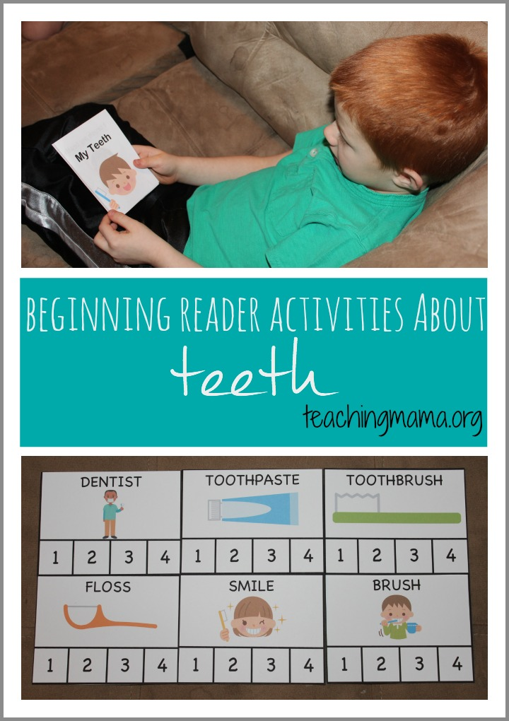 Beginning Reader Activities About Teeth