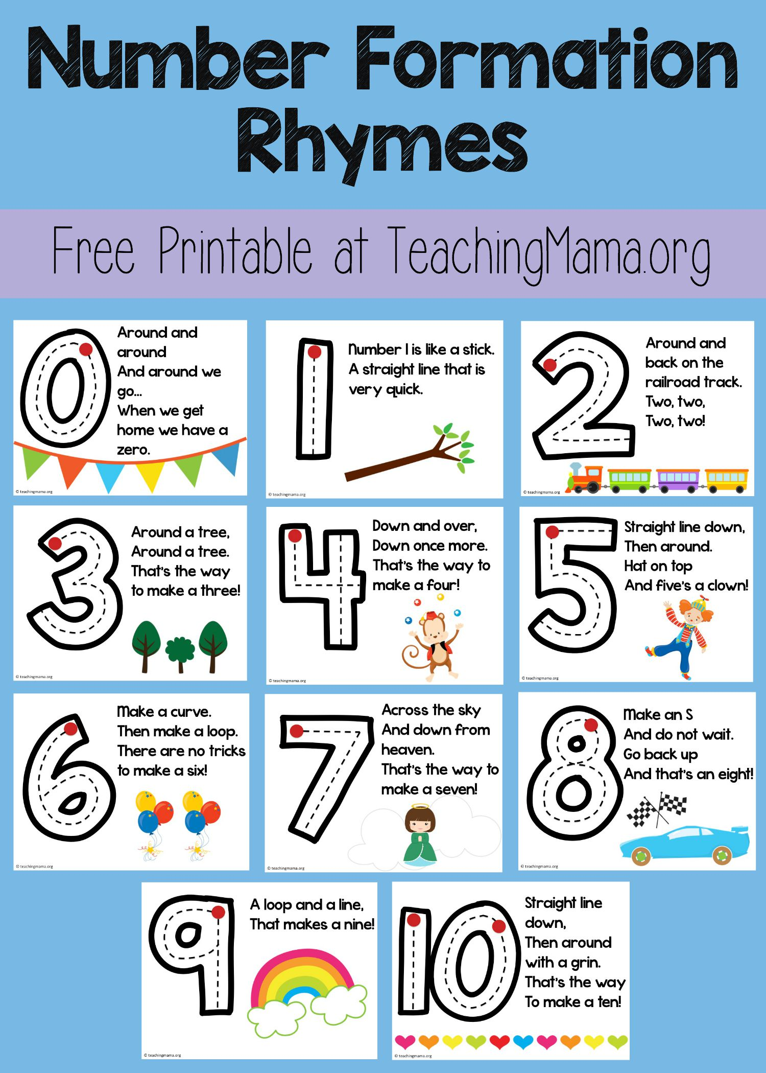 Number Formation Rhymes - Teaching Mama