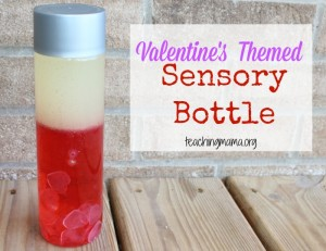 Valentine's Themed Sensory Bottle